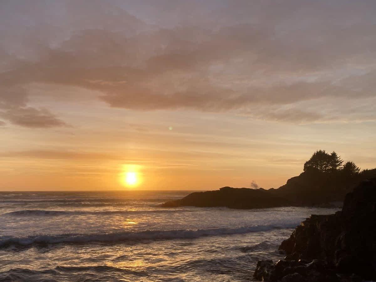 Cox Bay sunset Tofino BC