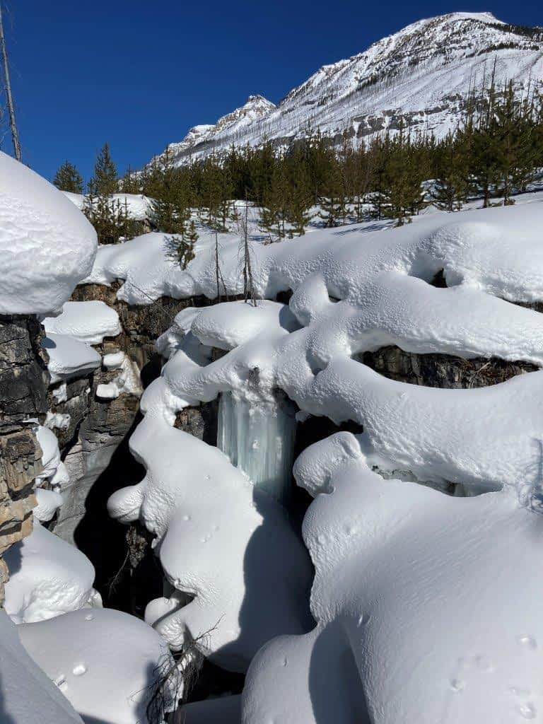 Marble Canyon snow drifts